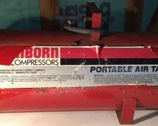 Sanborn portable air compressor.  Model g 51 k.