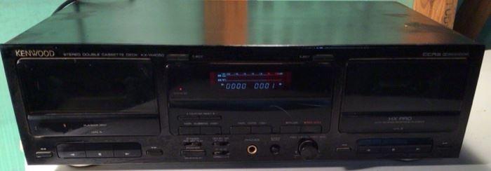 VINTAGE Kenwood KX-W4050 Stereo Double Cassette Deck