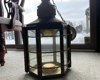 Brass Hanging Lamp Fixture