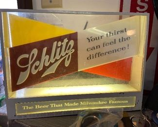 Acrylic Schlitz Beer Sign