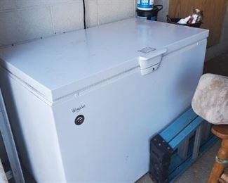 Nice, newer Whirlpool chest deep freezer
