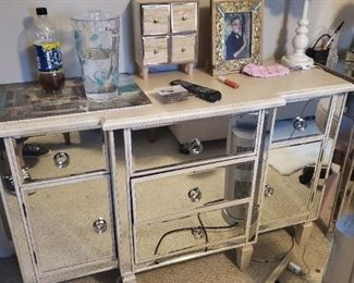 Glam dresser, Farmhouse Chic Lamp, Jewelry Box, and More!