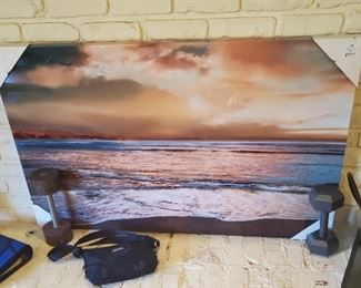 Large, new sunset picture decor