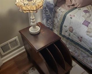 Vintage Magazine/Records Table Stand