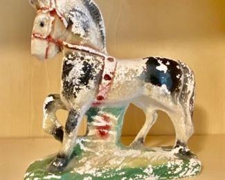 Vintage Carnival Chalkware horse