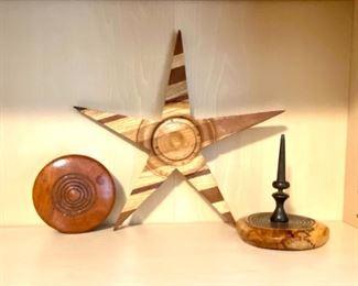 Handmade wood decor.