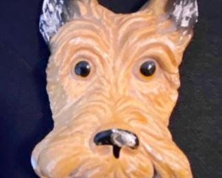 Vintage Carnival Chalkware dog face