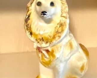 Vintage Carnival Chalkware dog