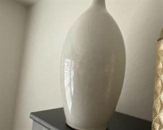 Large white vase