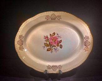 Eggshell Georgian Homer Laughlin serving platter