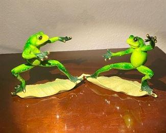 Funny frog figures