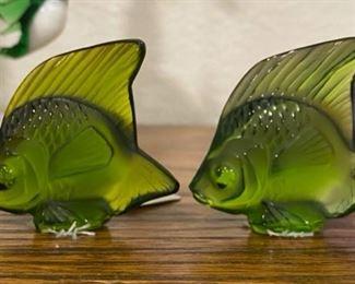 Vintage Rene Lalique original position fish