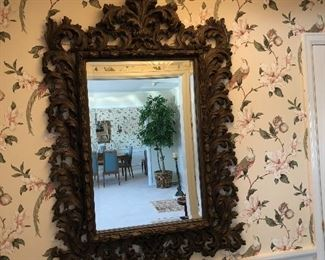 large carved resin mirror