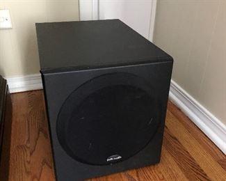 polk audio surround sound system 3 speakers + subwoofer