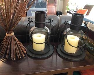 pottery barn metal candle lanterns
