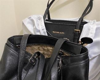 Michael Kors & Coach leather totes