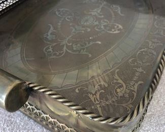 detail of brass tray