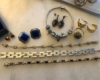 sterling jewelry and costume jewelry - more available