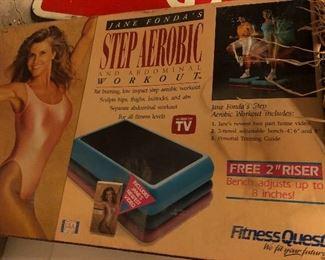 Jane Fonda step aerobic in box