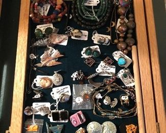 Vintage jewelry, costume and sterling