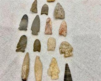 18 spears and arrowheads. $290