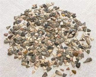 Pile of mini arrowheads, points. Have not counted. $560