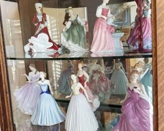 Royal Doulton lady figurines