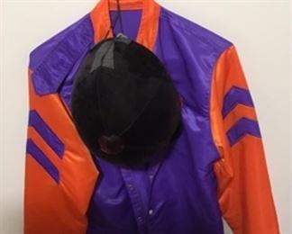 Jockey silks and cap