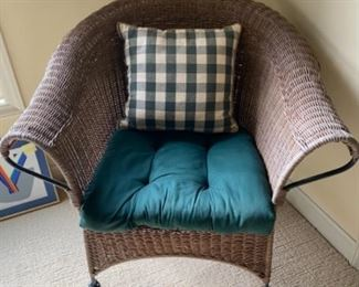 "8.	Wicker Chair		33""W x 31""H	$50  NOW $30"