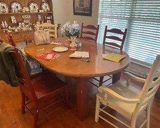 Farmhouse Style Table with Matching Chairs