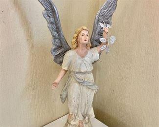 "$30 - Paper mache angel - 25"" H, 13"" W, 5"" D."