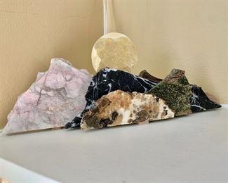 """$95 - Walls That Rock sculpture #1 - 5"""" H, 13.5"""" W, 2.5""""D."""