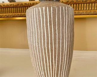 "$95 - Miranda Thomas studios pottery vase 8.5"" H, 5"" diam."