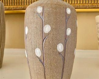 "$90 - Miranda Thomas studio pottery vase 7"" H, 4"" diam."