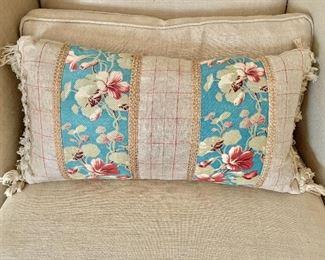 """$65 - Down pillow - 24"""" W x 11"""" H."""