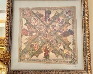 """$125 - Signed and numbered Carol McCrady art - 21"""" H x 21"""" W."""