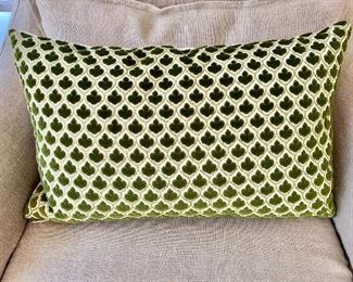 "$50 - Down filled pillow - 20"" W x 11.5"" H."