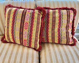 "$80 - Pair of pillows - 20"" H x 20"" W."