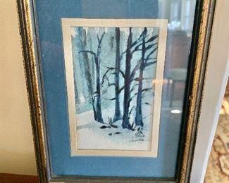 """$75 - Small watercolor - 7.75"""" H x 6"""" W."""