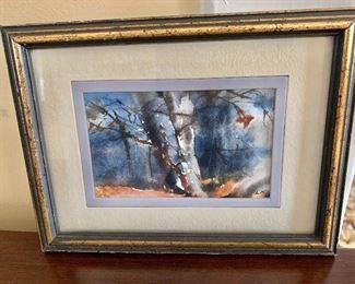 """$75 - Small watercolor - 6"""" H x 7.75"""" W."""