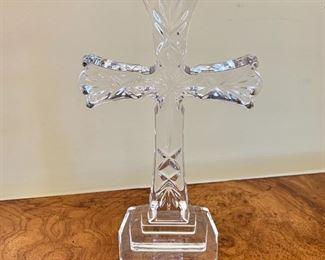 "$35 - Glass cross - 8"" H, 5"" W, 2.5"" D."