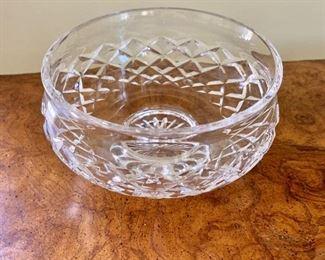 "$24 - Waterford bowl - 3"" H, 6"" diam."