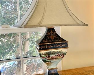 """$495 - Pair of Chelsea House lamps - Each 30.5"""" H, 19"""" W, 13"""" D."""