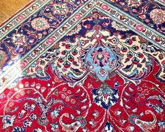 "$2,800 - Tabriz rug - one spot has repair - 12""9 x 10' 1"""