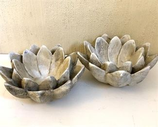 $30 - Lotus candle holders