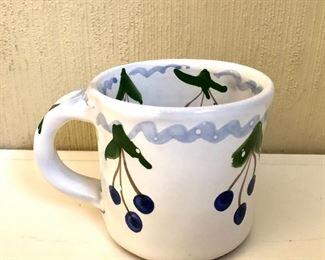"""$15 Signed mug.  4"""" H, 4.5"""" diam."""