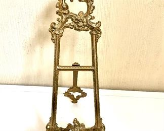 """$50 Ornate plate stand.  9.5 """" H, 4"""" W, 5.5"""" D."""