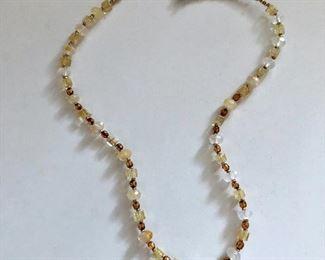 "$15 Beaded neckace silver tone clasp. 19""L"