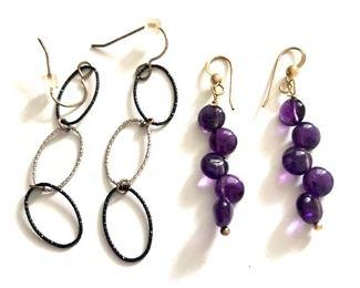 """$20 each Pierced earrings.  Each: 2""""L"""