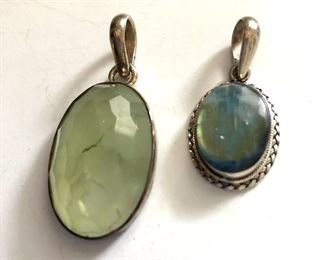 """$30 each Sterling pendants.  Big: 1.8""""L; 0.8"""" SOLD W.  Small: 1.2""""L: 0.6""""W Available"""